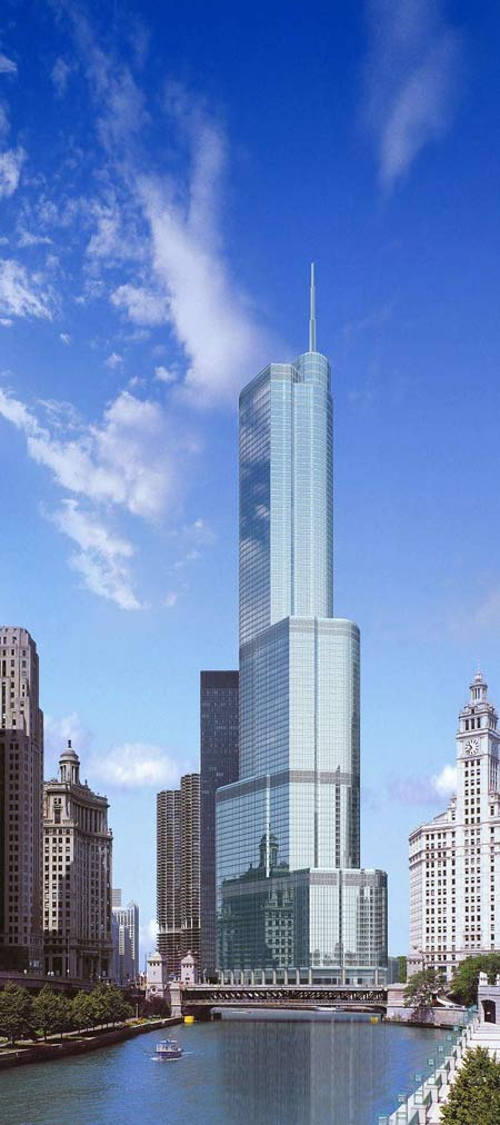 Rules change makes Chicago's Trump Tower the world's sixth tallest.