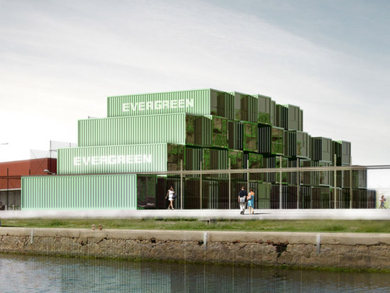 A French architectural firm recycled 100 surplus shipping containers into student residences.
