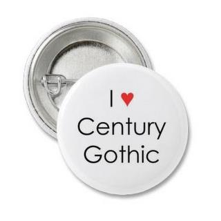 Century Gothic font is eco friendly.