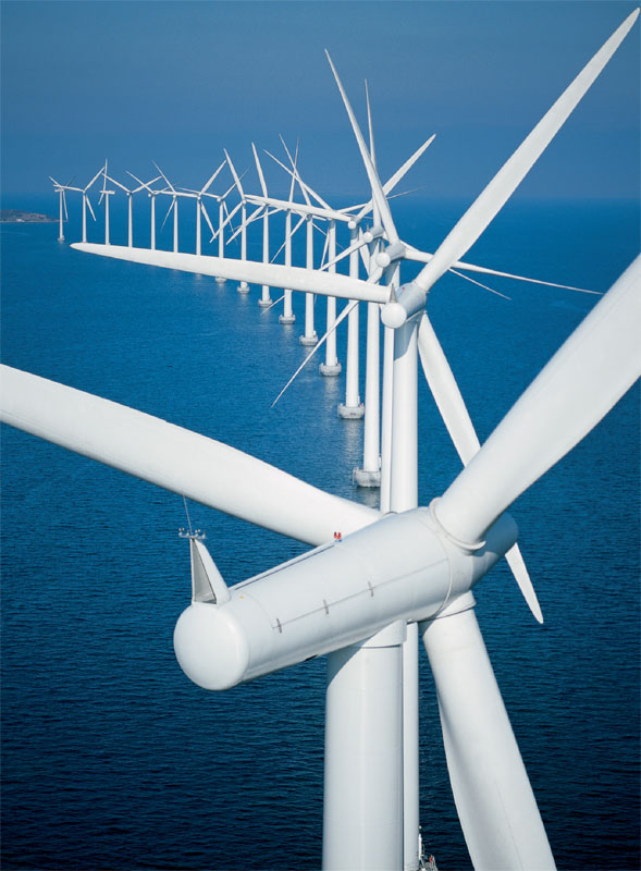 America playing catch up to Europe on developing offshore wind farms.