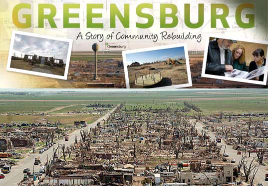 Greensburg, KS, saves itself by going green.