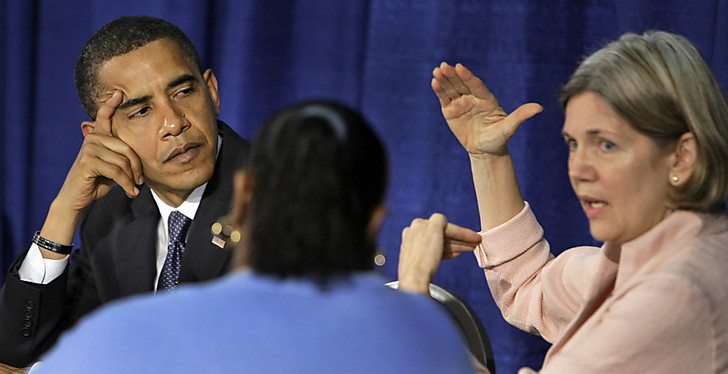 President Obama slips Elizabeth Warren in without Senate confirmation process.